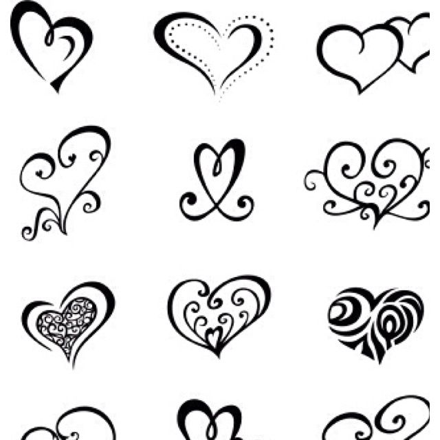 Best Heart Tattoo Design Template Images On   Heart