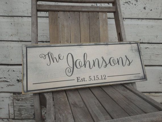 This is a custom made solid wood sign. It is 100% painted with no vinyl on the sign. The edges are hand distressed for that shabby chic, rustic look.