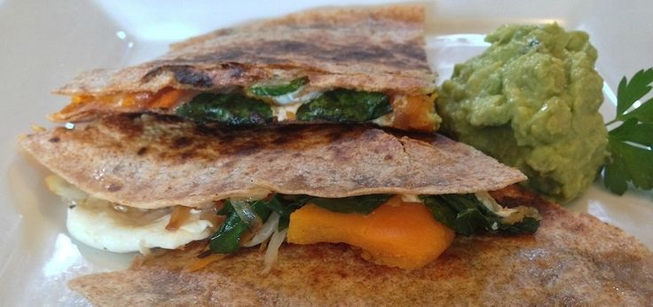 Butternut Squash & Kale Quesadilla (It's Ridiculously ...