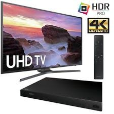 "Samsung UN55MU6300 55"" 4K Ultra HD Smart LED TV (2017)  LG UP870 Blu-Ray Player"