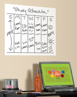 Dry Erase Message Board - Great way to keep your assignments in check #college