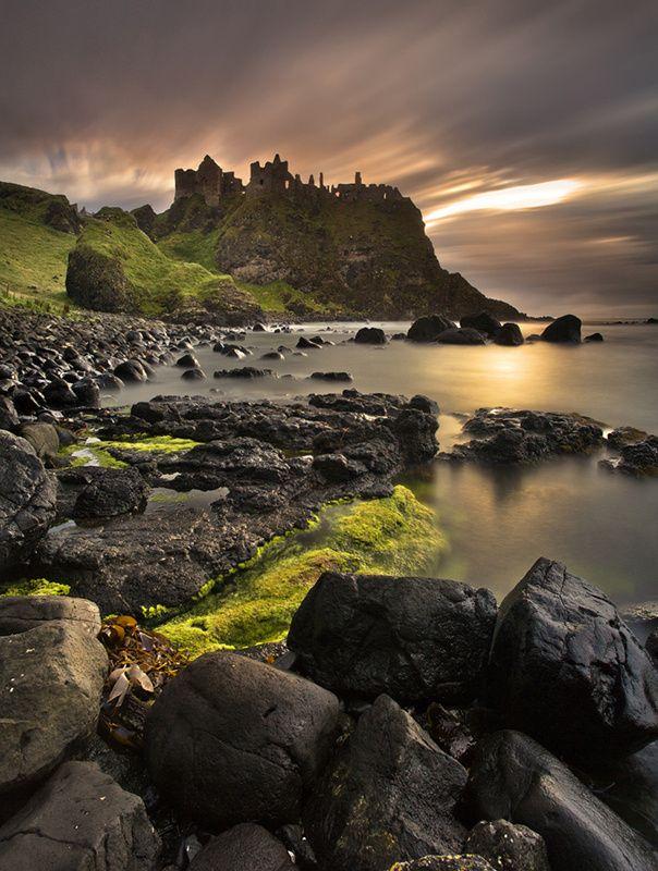 Dunluce Castle ... coast of Co. Antrim, Norhtern Ireland
