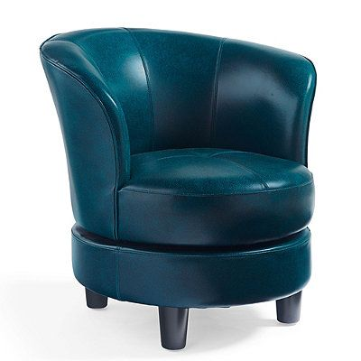 Rebecca Leather Swivel Chair - Grandin Road $414
