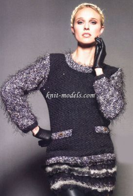 pull bicolore avec poches    -    aig    n°    4,5
