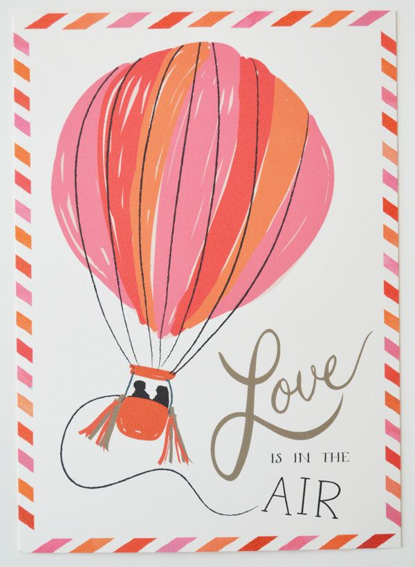 Save the Date Engagement Postcard set of 25/ Pink, Orange and Red
