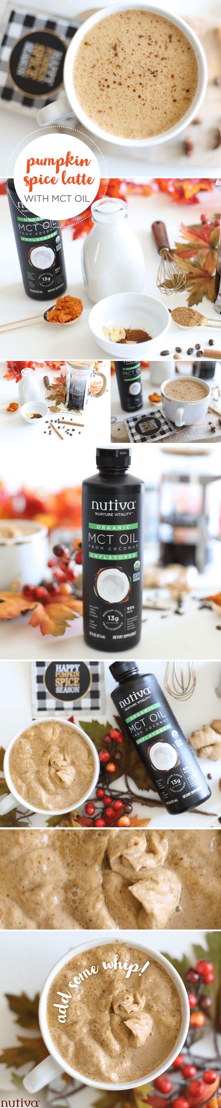 MCT Pumpkin Spiced Latte kitchen.nutiva.com Nutiva Kitchen