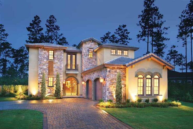 Eplans mediterranean house plan courtyard luxury 3031 Luxury mediterranean house plans