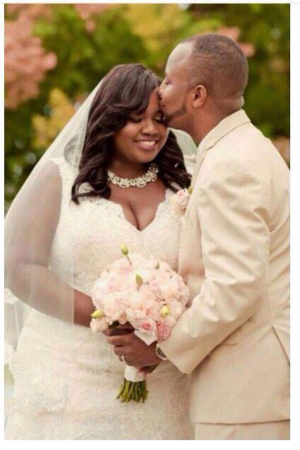 Beautiful Black Curvy Bride on her Wedding day!!! Love is beautiful