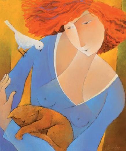 Peintre français Francoise Collandre