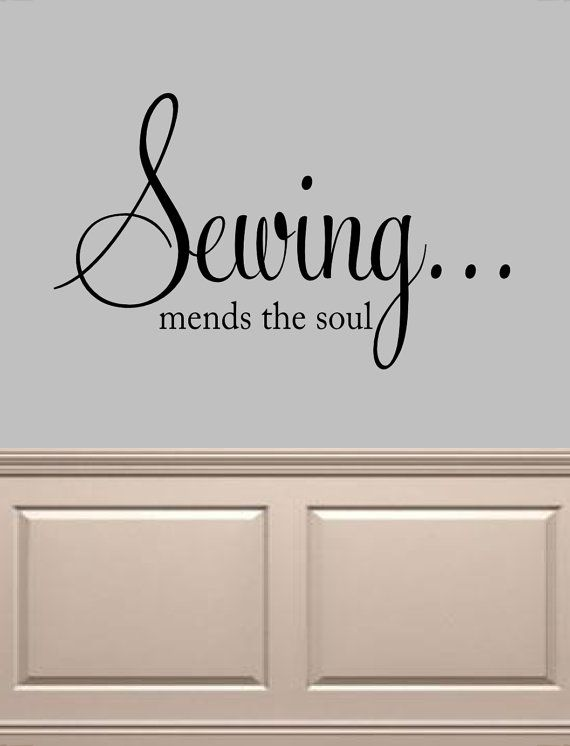 Sewing mends the soul Vinyl Wall Decal  Sewing by OZAVinylGraphics, $18.00