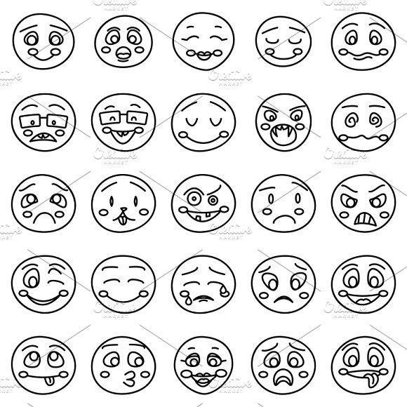 Hand Drawing Of Emoticons Happy Emoticons Emoticon Happy