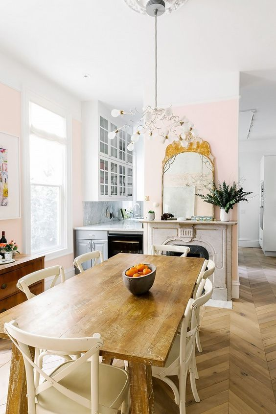 Best 20 pink dining rooms ideas on pinterest Pretty dining rooms