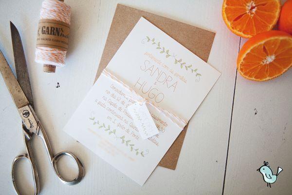 Spring weeding invitation by Maria Pipa