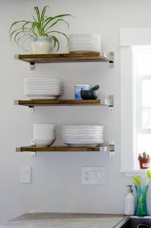 Ikea Shelf Hacks And Ideas For Your Home Make Calm Lovely Floating Shelves Diy Diy Kitchen Renovation Kitchen Design Diy