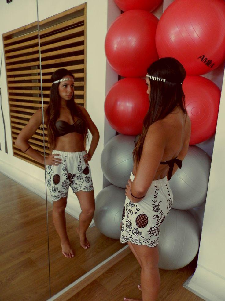 NEW FABRIC Onida shorts - Lolita black bikini