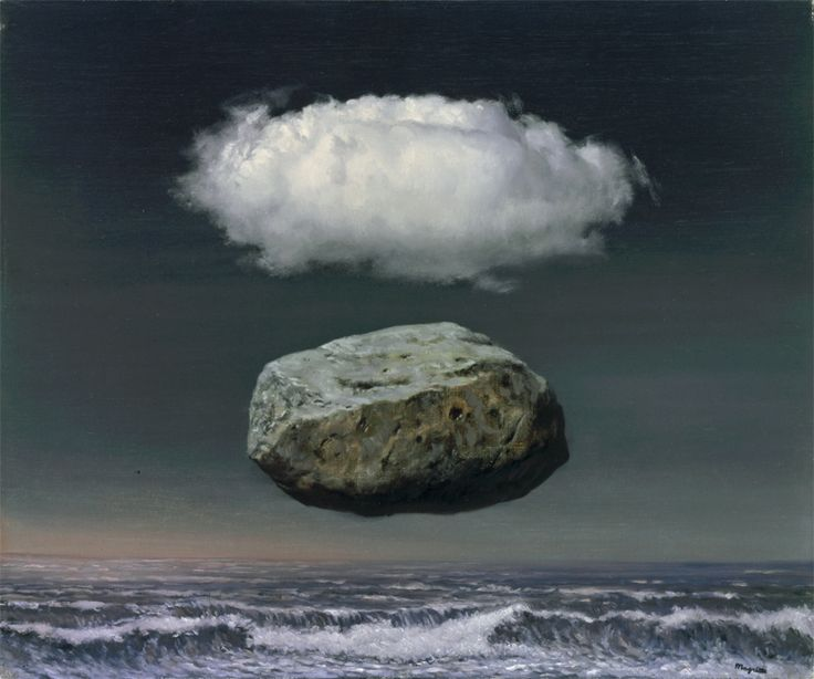 Rene Magritte Les Idées Claires (Clear Ideas), 1955 oil on canvas
