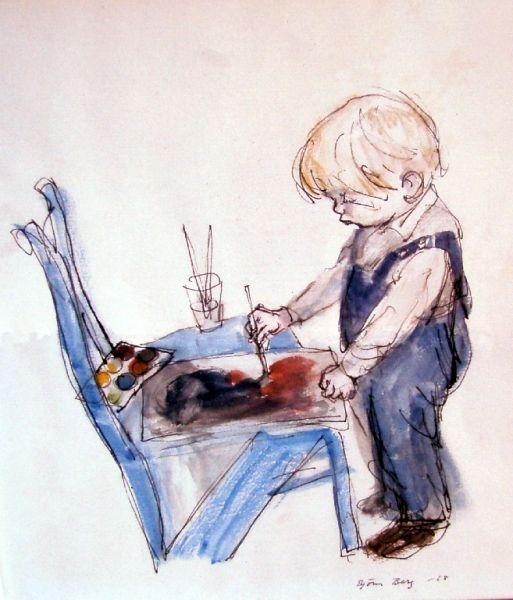 Akvarell, 1966, BB