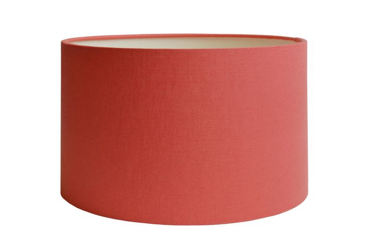 Coral cylinder drum lampshade