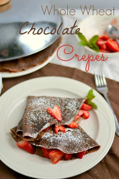 Whole Wheat Chocolate Crepes | recipe from Food Doodles
