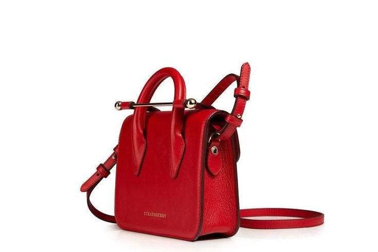 MC Nano - Ruby - Red Leather Nano Bag - Strathberry