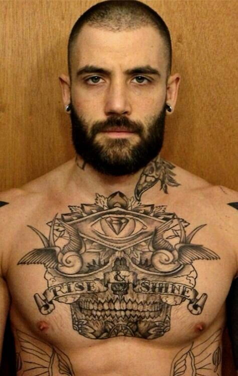 Male Chest Tattoo Gallery: 51 Best Teen Male Chest Tattoo Images On Pinterest