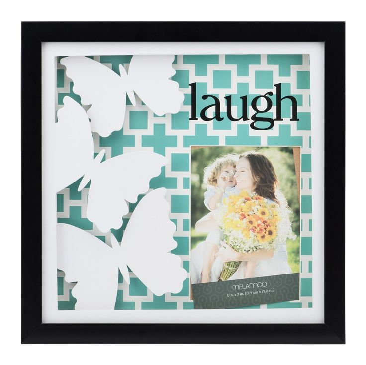 Laugh Paper Art Shadow Box Picture Frame