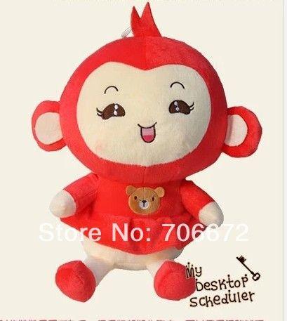 Чучела животных прекрасный обезьяна ПП хлопка большой 50 см красная юбка девушка обезьяна плюшевые игрушки около 19 дюймов обезьяна кукла подарок t6936