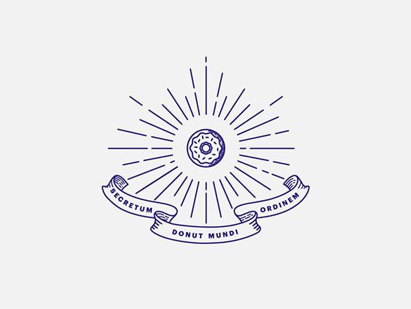 "The Secret Donut Society. ""Secretum Donut Mundi Ordinem"" - Concept, naming and branding for an underground donut shop in San Pedro Garza Garcia, Mx. via 11the11"