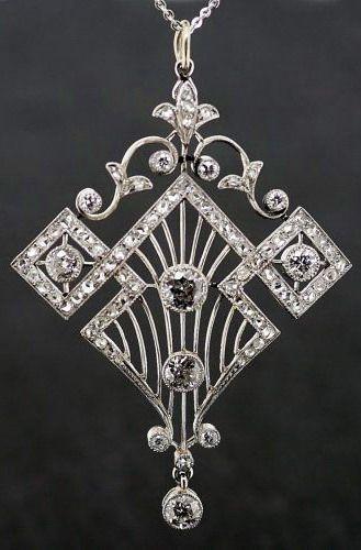 Art Deco Diamond Pendant 1920's