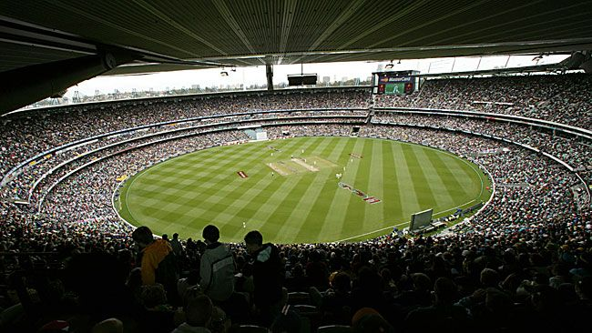 Melbourne Cricket Ground (MCG) - Home of Cricket and AFL in Australia. Also main arena for the 1956 Olympics and 2006 Commonwealth Games