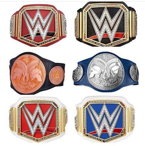 WWE - Universal/World Heavyweight, Raw Tag Team/ SD LIVE: Tag Team, Raw Women's/SD LIVE: Women's