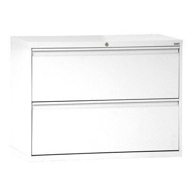 Sandusky Lee 800 Series 2 Drawer Lateral File Cabinet, Depth X Height X  Width, White