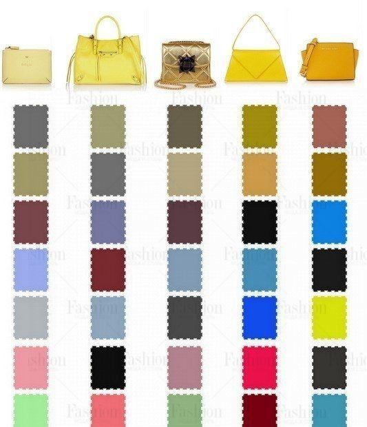 Сочетание цветов сумок с одеждой 5