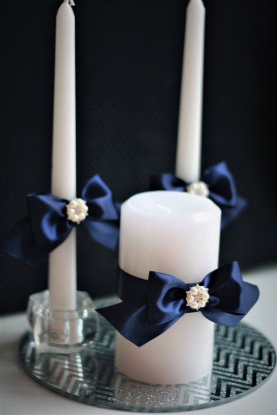 navy blue wedding candles unity candles with by alexemotions