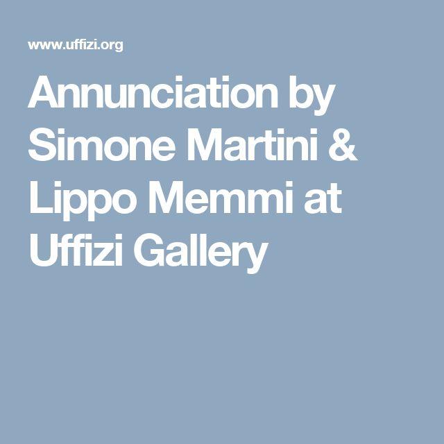 Annunciation by Simone Martini & Lippo Memmi at Uffizi Gallery