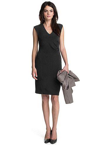 Esprit - Kurviges Jersey Etui-Kleid im Online Shop kaufen