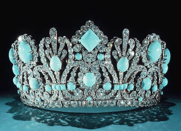 Marie-Louise Emerald Diadem Replaced with Tourquoise by Francois Regnault 1810
