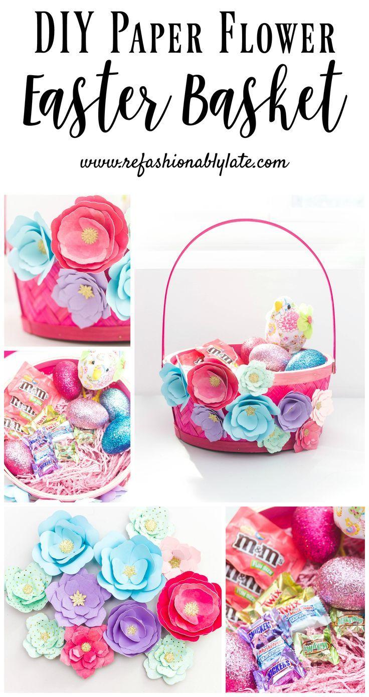 Paper Flower Easter Basket Homemade Easter Baskets Easter