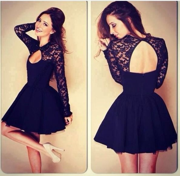 2014 New arrivals princess short prom dress Sexy open back sweetheart Long sleeves lace prom gown ED026