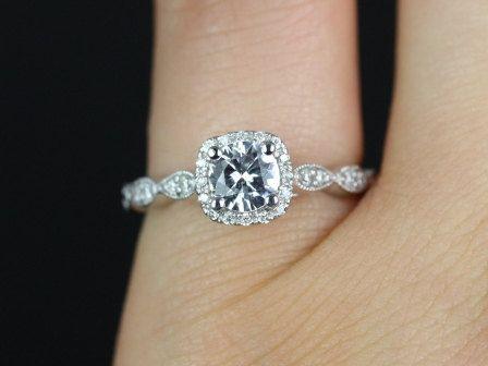 Engagement White Sapphire Ring