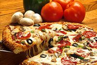 Pizza, the all time favorite before the kids go out to trick or treat!