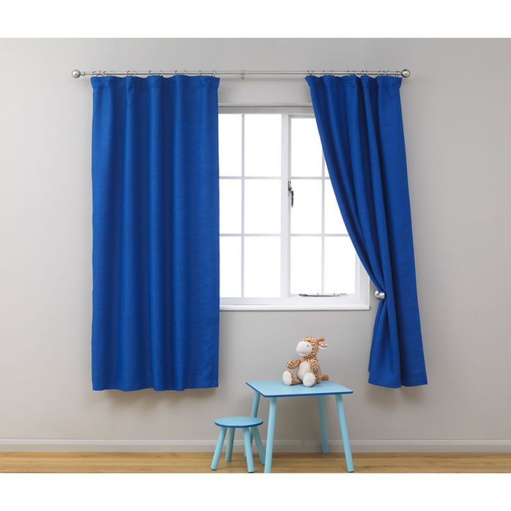 Blue Gingham Cafe Curtains
