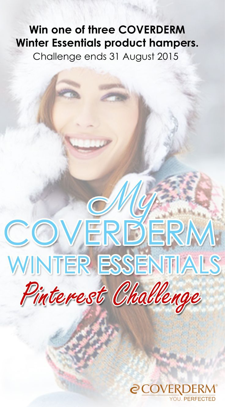 Take part in the My COVERDERM Winter Essentials Pinterest Contest – Whether its your pink bunny slippers or that new fluffly onesie, we all have our must-have, can't-live-without winter essentials. What is it that you simply can not live without during winter? Create a Pinterest board to show us and you could win one of three COVERDERM Winter Essentials product hampers. Enter here: http://nailmetics.co.za/competition_winter_essentials.html