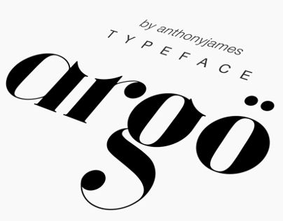 Argö is a serif typeface designed initially as an Art Deco display font, but…