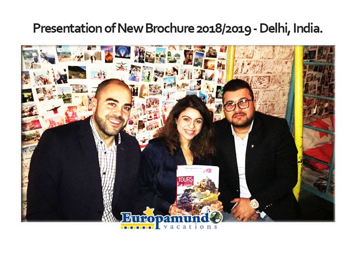 Europamundo India Team kick starts January 2018 with events engagements and the introduction of 14 special tours for Indians.  Presentation of Europamundo Vacation New Brochure 2018/2019 - Delhi India. We introduced new tours in Delhi attended by 45 B to B travel agents a recent event hosted at Tourist Cafe in Delhi India. Attended by: Javier Villodre Sales Manager Global Market & Roxan Patel Commercial Manager for West and South region.  Europamundo participated in the Outbound Travel…