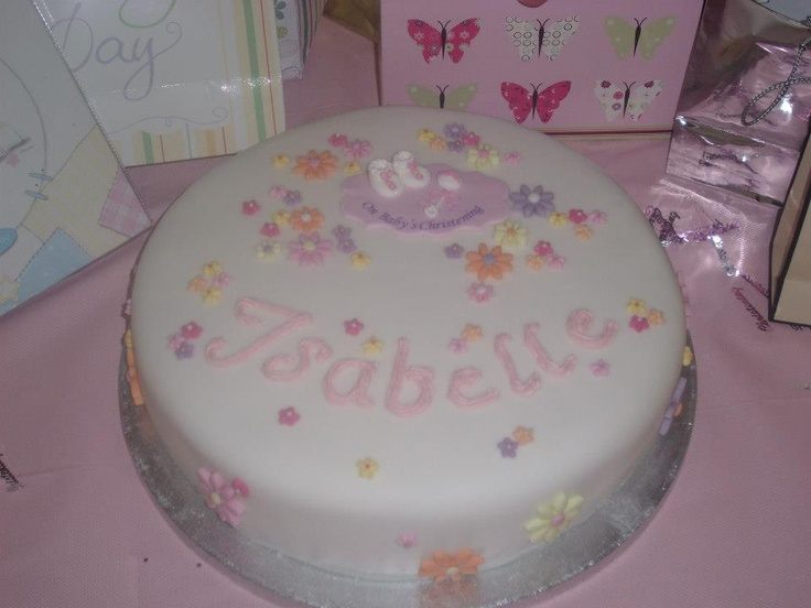 My first christening cake!