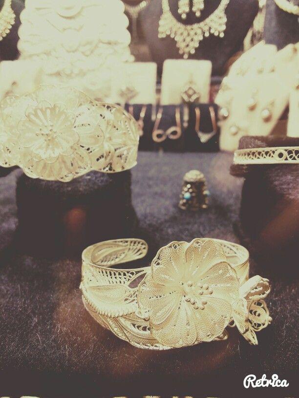 Telkari işlemeli gümüş bilezik . Hand made el yapımı