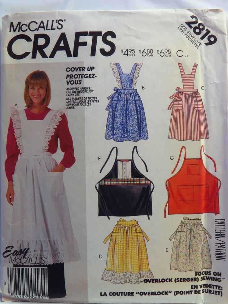 34 best DIY Apron Sewing Patterns images on Pinterest | Apron sewing ...
