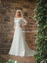 Cathy Ireland lace wedding dress - 2