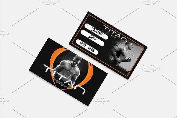 Gym Membership Card by SoftLogic.BG on @creativemarket